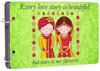 Studio Shubham Every love story is beautiful wooden photo album(26cmx16cmx4cm)