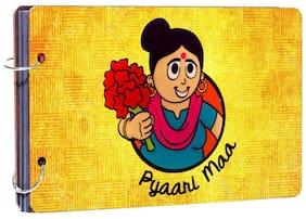 "Studio Shubham""Pyari Ma"" wooden photo album(26cmx16cmx4cm)"