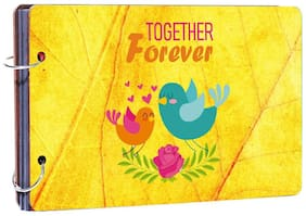 "Studio Shubham""Together Forever"" wooden photo album(26cmx16cmx4cm)"