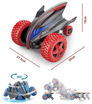 Stunt action Monster Crazy Devil Gyro Car with Strong Bounce Power & Colorful Lights (mulit color)