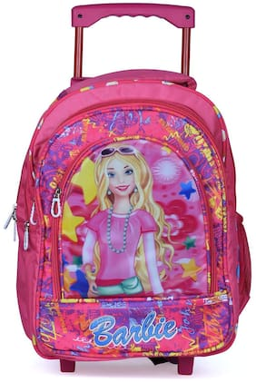 Stylbase Soft Fabric Wheels Trolley Multicolour Travel School Backpack for Girls and Boys