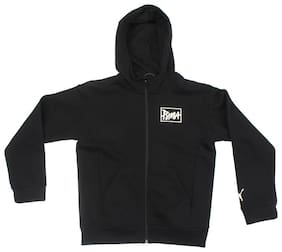 Puma Boy Cotton Solid Sweater - Black