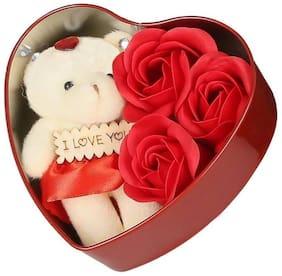 STYLEWELL Red Teddy Bear - 10 cm