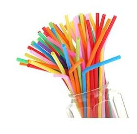 "Stylewell Set of 100 Pcs Multicolor 10"" Inch Disposable Plastic Drinking Magic Straw (Pack of 100)"