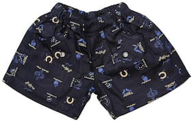 Stylish Trendy Blended Shorts Blue half Pants summer wear for boys