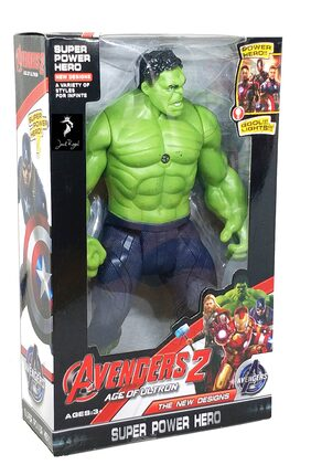 Stylo Avenger 2 Age Of Ultron Action Figure Series with LED Light on Chest with Weapons Twist and Move HULK