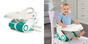 Summer Sit 'n Style Compact Folding Booster Seat White/Teal