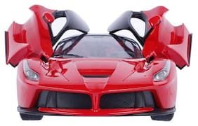 Sunflower Remote Controlled Rechargable Ferrari Car With Opening Doors-Red