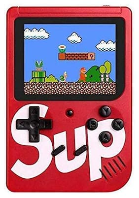 Sup Game Box 400 Classic Games Color Full LED Screen/Hand Held Retro Gaming Console Red in colour