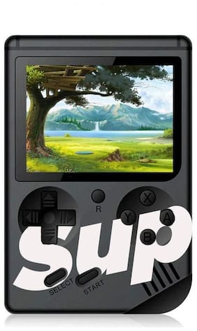 Sup Game400 in 1 Super Handheld Game Console, Classic Retro Video Game, Colorful LCD Screen, Portable, Best for Kids (Black)