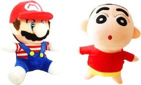 Super Mario Bros. Mario And Shinchan 22 Cms. Soft Toy Plush Stuffed Toys