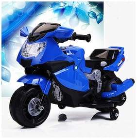 Super Racer BMW (Ninja) Battery Operated Ride On Bike With Music;Horn;Headlights And 25 kg Weight Capacity - Blue