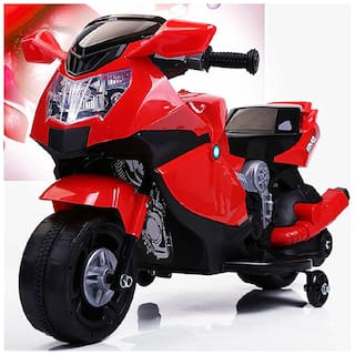 Super Racer BMW (Ninja) Battery Operated Ride On Bike With Music;Horn;Headlights And 25 kg Weight Capacity - Red