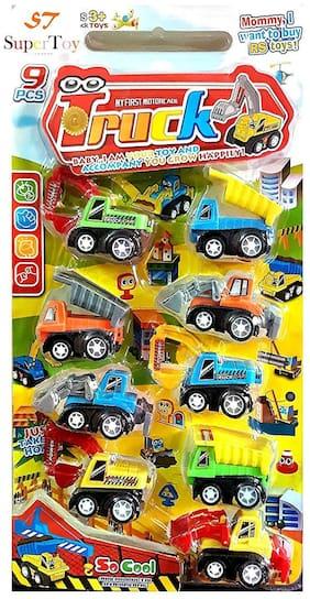 Super Toy Construction Vehicle Set 9 pcs