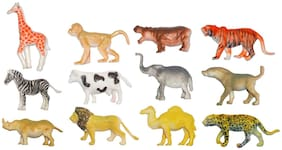 Super Toy Kids Domestic Wild Animal Toys Play Set (Pack of 13)