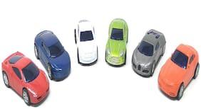 Super Toy Unbreakable Die-Cast Metal Cars Toy (Set of 6)