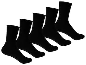 Supersox Black Cotton Socks (Pack of 5)