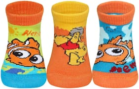 Supersox Disney Nemo Character Regular Length Socks Collection for Baby(Multi)