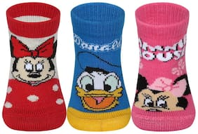Supersox Disney Minnie & Friends Character Regular Length Socks Collection for Baby(Multi)