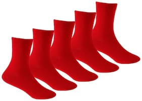 Supersox Red Cotton Socks (Pack of 5)