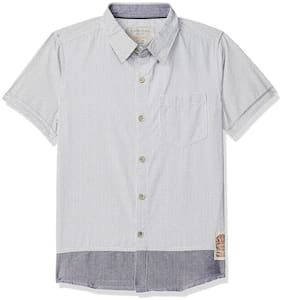 SUPERYOUNG Boy Cotton Printed Shirt Grey