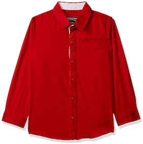 SUPERYOUNG Boy Cotton Solid Shirt Red