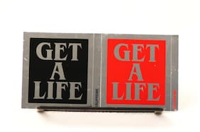 SUPREME GET A LIFE STICKERS RED BLACK ACCESSORY CDG WHITE BOX LOGO RARE HOLO