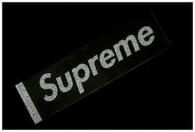 SUPREME GLITTER INFUSED BOX LOGO STICKER BLACK SS16 ACCESSORY CDG RED ROYAL BLUE