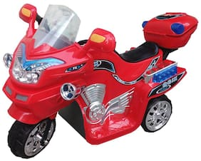 Oh Baby, Baby Battery Operated Red Color Motorcycle With Musical Pip-Pip Sound For Your Kids SE-BO-09