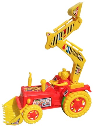 Buy Oh Baby Baby Plastic Jcb Toy With Friction Moving For Your Kids