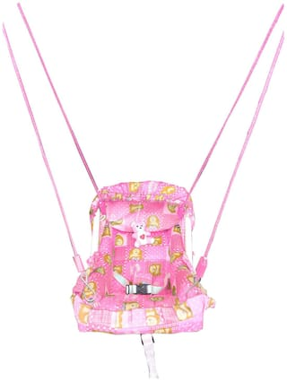 Oh Baby Baby Pink Color Carry Cot 10 In 1 Function Plastic Swing