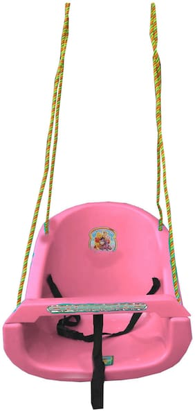 Oh Baby Baby Pink Full Size Plastic Swing
