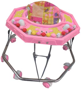 Oh Baby Baby Steel Pipe pink Walker for your kids Se-W-2