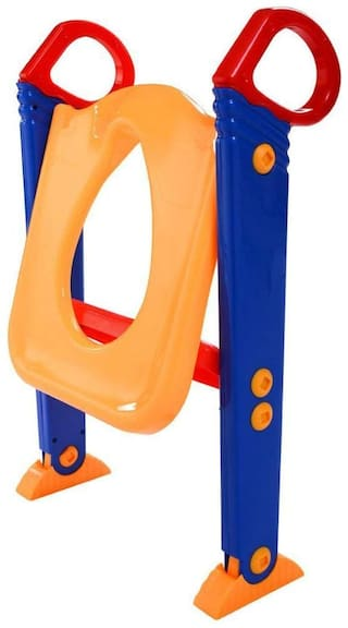 SVK Dream Kid's Toilet Potty Trainer Seat Toddler with Ladder Step up Training Stool - (Color May Vary)