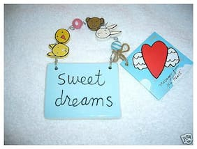 Sweet Dreams Ceramic Plaque for Child's Room - Ceramic with beads  (NEW)