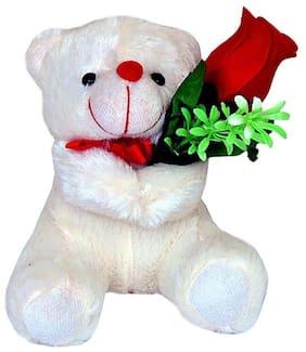 White Teddy Bear - 16 cm