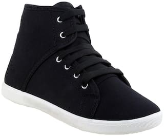 Swiggy Black Canvas shoes for boys