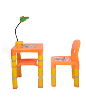 Swiss Falcon Audi Table Chair With LED Lights Orange (Pack of 1)