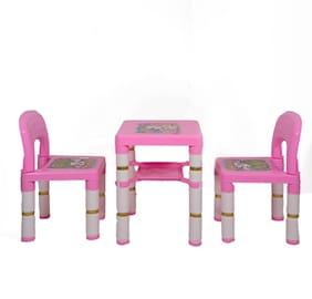 Swiss Falcon Dolphine 2 chair 1 Table Set Pink (Pack of 1)