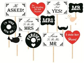 SYGA Set Of 13 Pre Wedding Party Photo Booth Props
