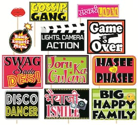 SYGA Set Of 12 Funny Wedding Party Photo Booth Props