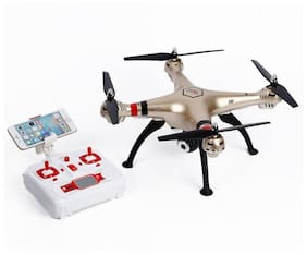 Hobbitos Syma X8HW FPV Altitude Hold & Headless Mode 2.4G 4CH 6-Axis with WiFi Camera Live Video Transmission Quadcopter / Drone