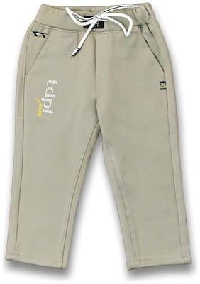 Tadpole Boy's Green Hosiery Solid Jeans