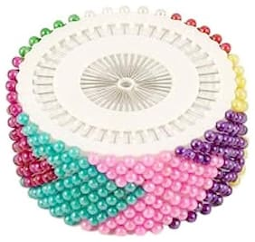 Tahira Fashion Design Steel and Plastic Head Hijab/Scarf Pins for Girls - Pack of 480 (Multi-color)