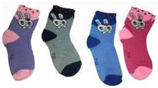 Tahiro Multicolour Cotton Printed Baby Socks - Pack Of 4
