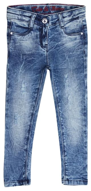 5eb2d0617c Buy Tales   Stories Girl Solid Jeans - Blue Online at Low Prices in ...