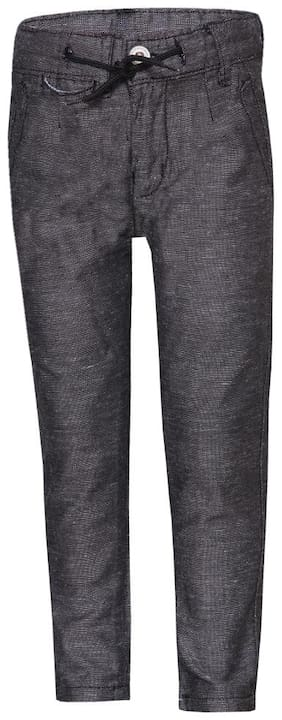 Tales & Stories Boys Textured Black Trousers
