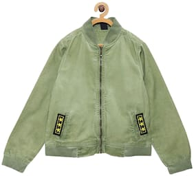 Tales & Stories Boy Cotton Solid Winter jacket - Green