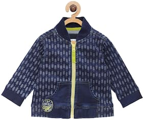 Tales & Stories Boy Cotton Printed Winter jacket - Blue