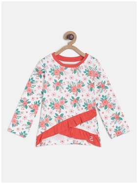 Tales & Stories Girl Cotton Floral T shirt - Multi